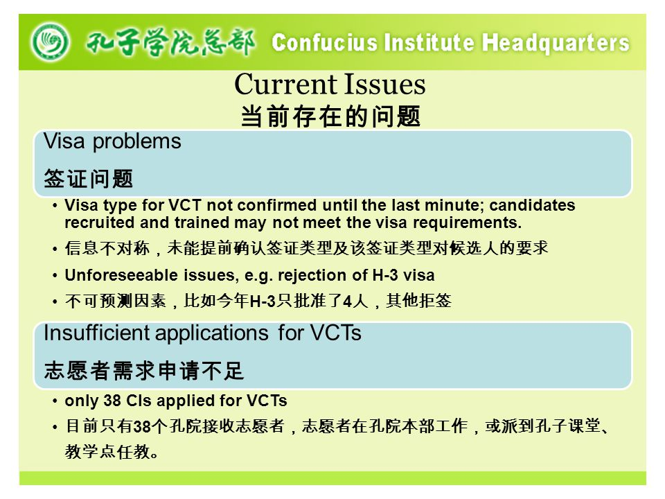 Local VCT program 海外志愿者项目 Initiated in 2006.