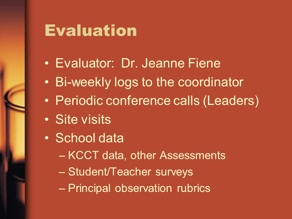 Evaluation Evaluator: Dr.