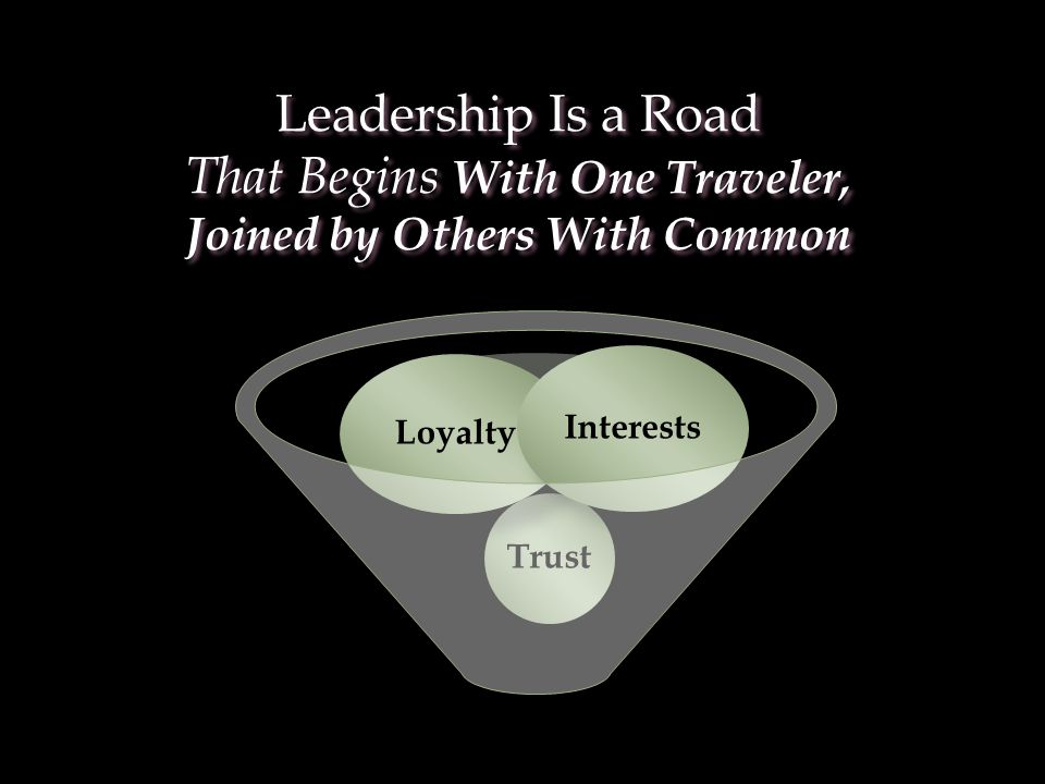 Leadership Is a Road That Begins With One Traveler, Joined by Others With Common Leadership Is a Road That Begins With One Traveler, Joined by Others