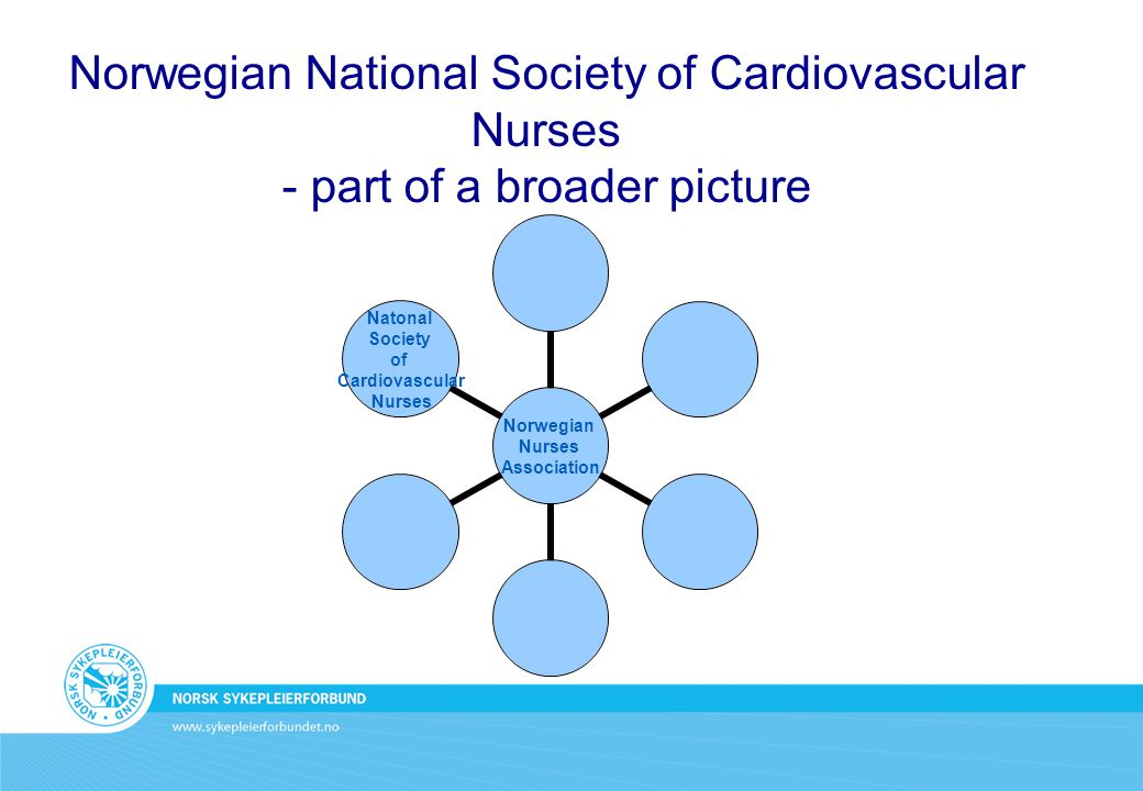 Norwegian National Society of Cardiovascular Nurses - part of a broader picture Norwegian Nurses Association Natonal Society of Cardiovascular Nurses