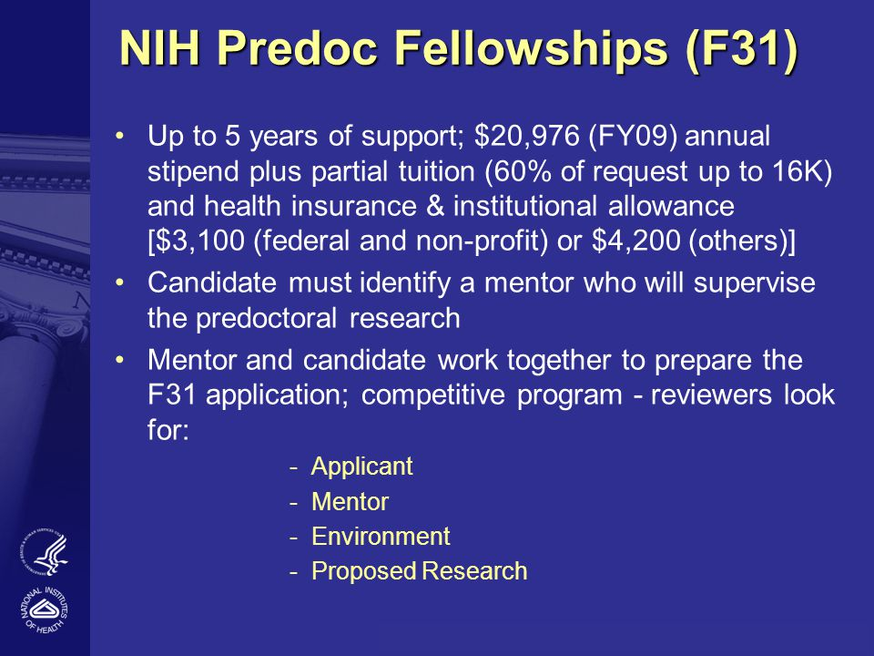 NIH-WIDE NUMBER OF F31 APPLICATIONS REVIEWED AND AWARDED