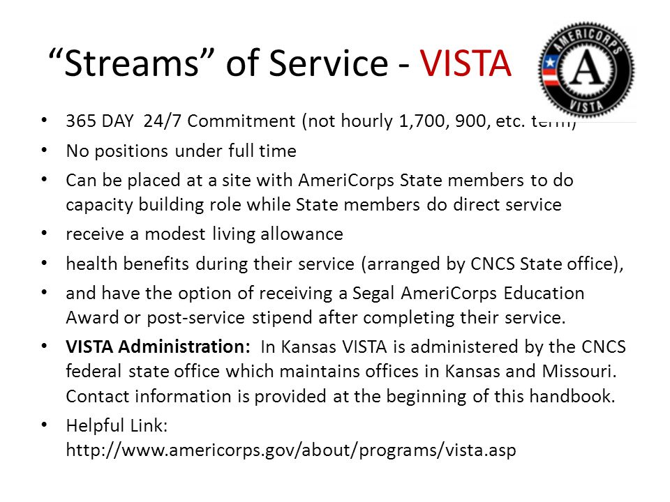Streams of Service - VISTA 365 DAY 24/7 Commitment (not hourly 1,700, 900, etc.