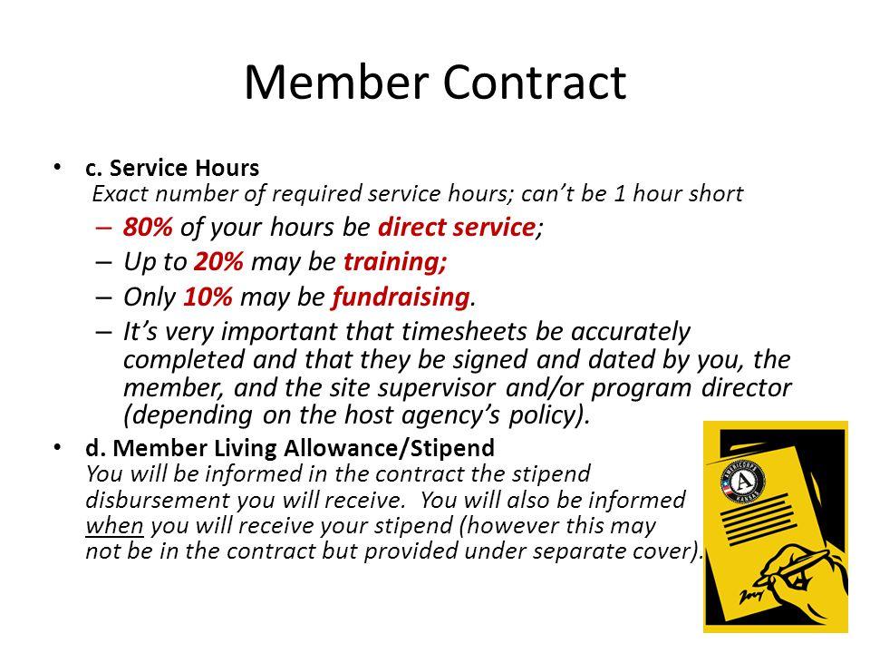 Member Contract c.