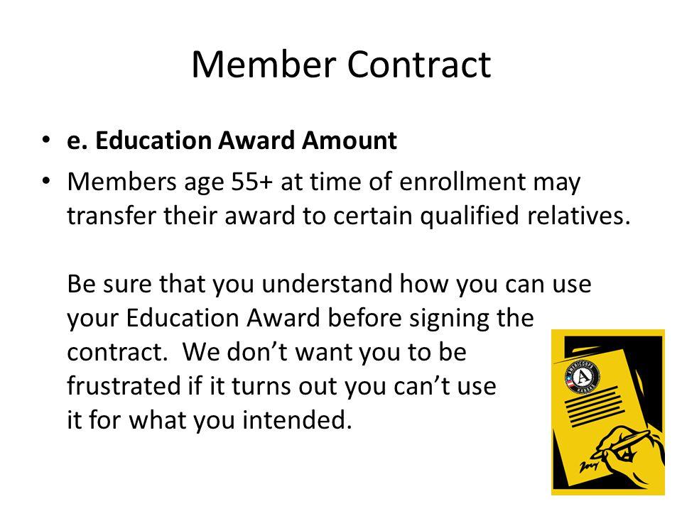Member Contract e.
