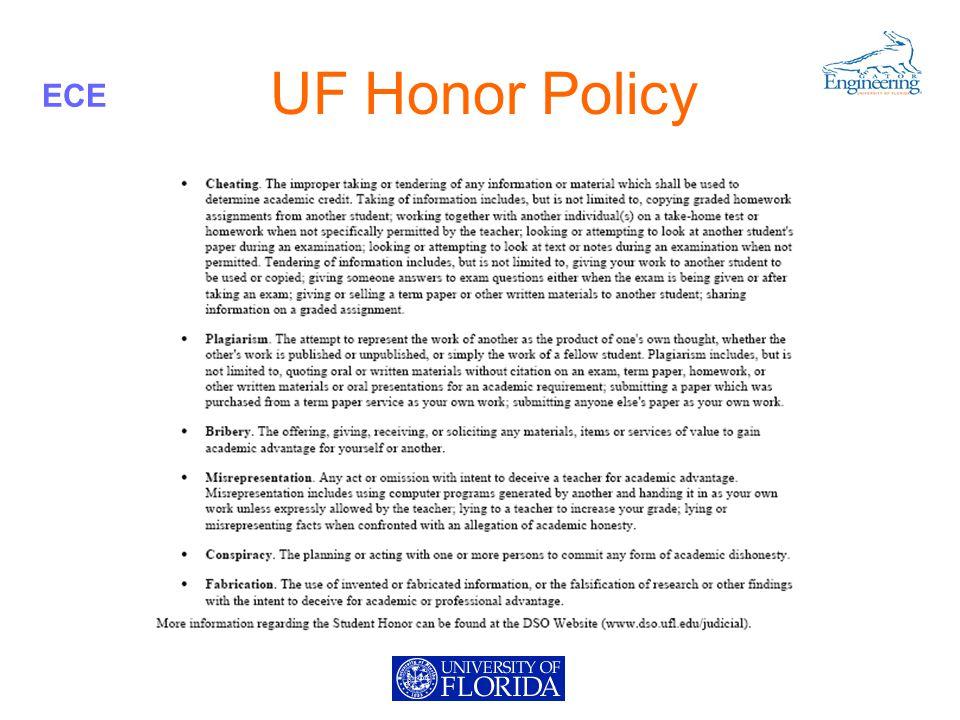 ECE UF Honor Policy