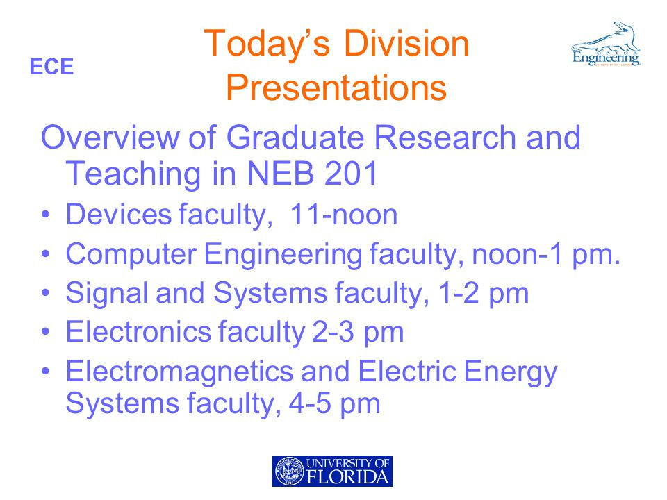 ECE Degree Programs Master of Engineering (Non-thesis or Thesis, 30 credit hours) Master of Science (Non-thesis or Thesis, 30 credit hours) Ph.