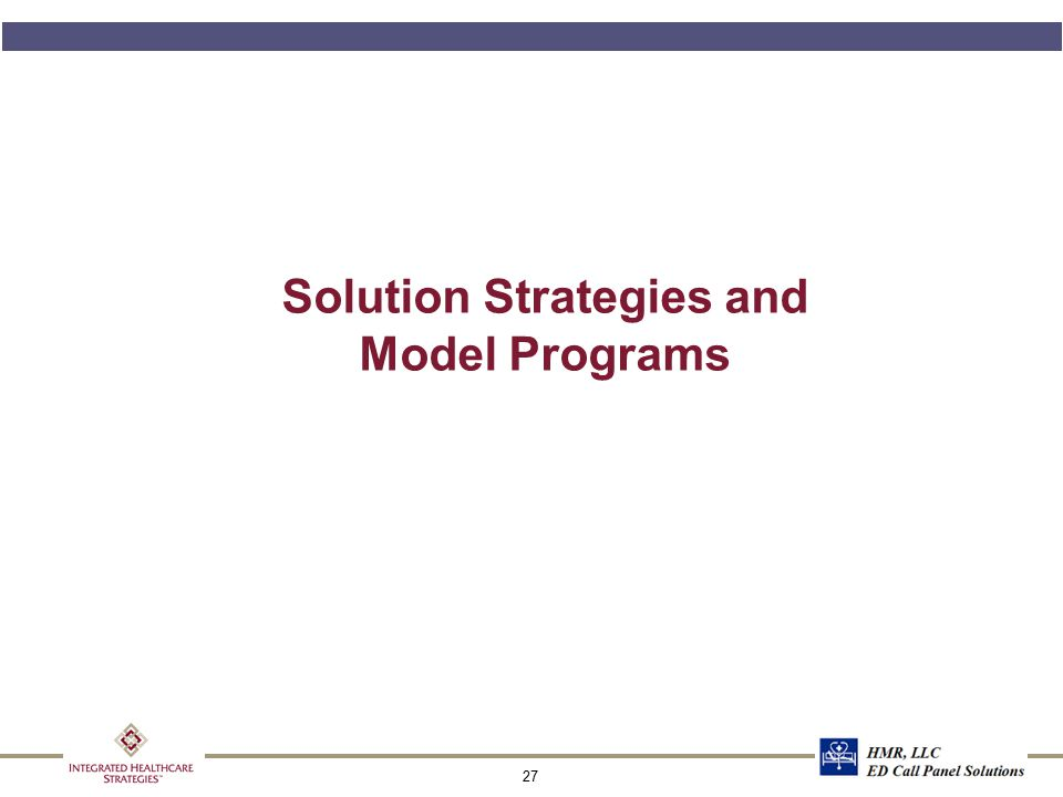 27 Solution Strategies and Model Programs