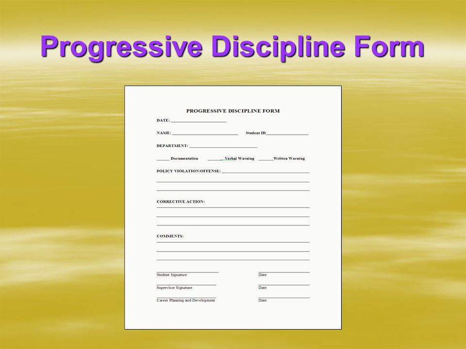 Progressive Discipline Form