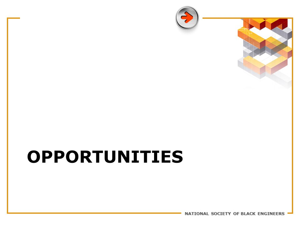 NATIONAL SOCIETY OF BLACK ENGINEERS OPPORTUNITIES
