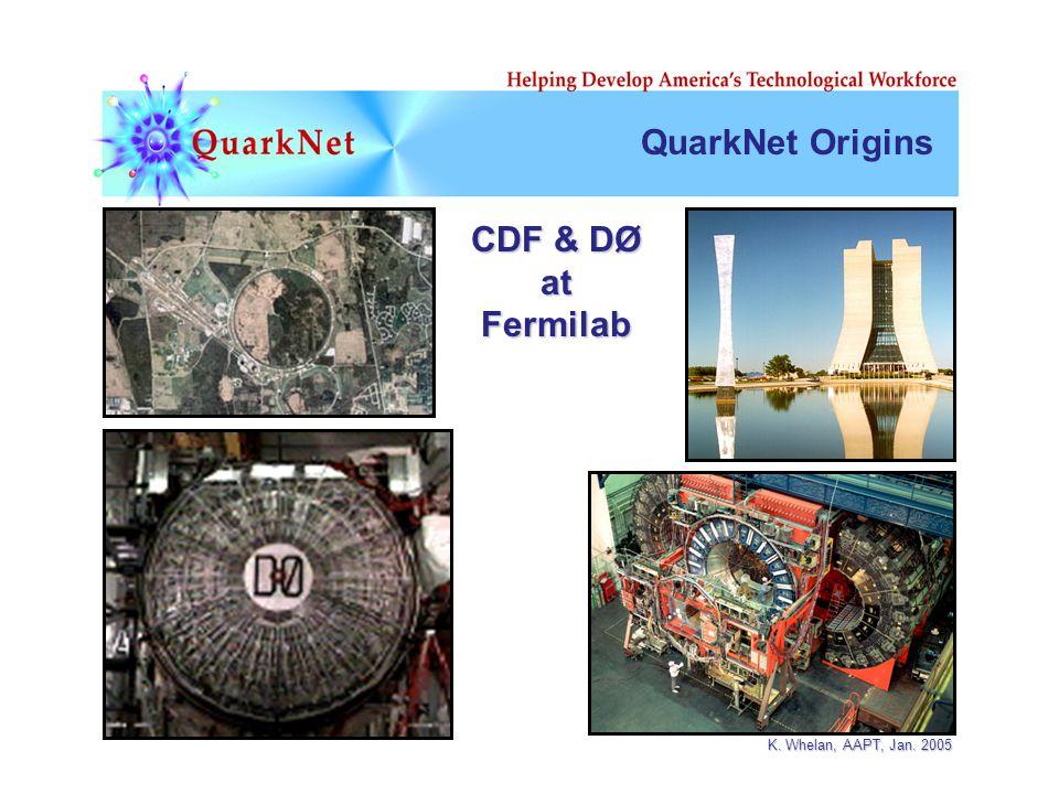 K. Whelan, AAPT, Jan. 2005 CDF & DØ atFermilab QuarkNet Origins
