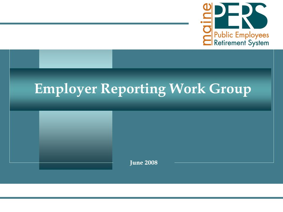 Employer Reporting Work Group June 2008