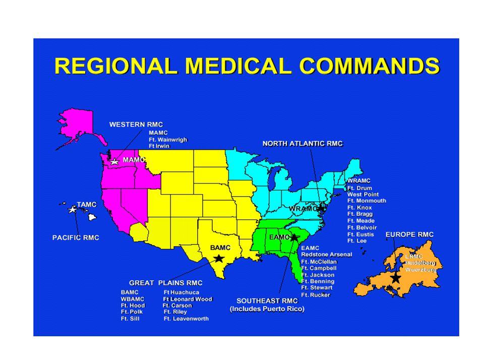 Medical Centers Brooke AMC, Ft.Sam Houston, TX.Womack AMC, Ft.