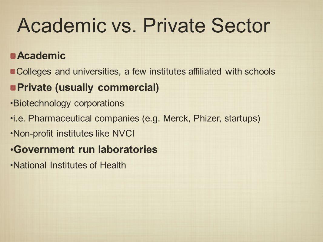 Academic vs.