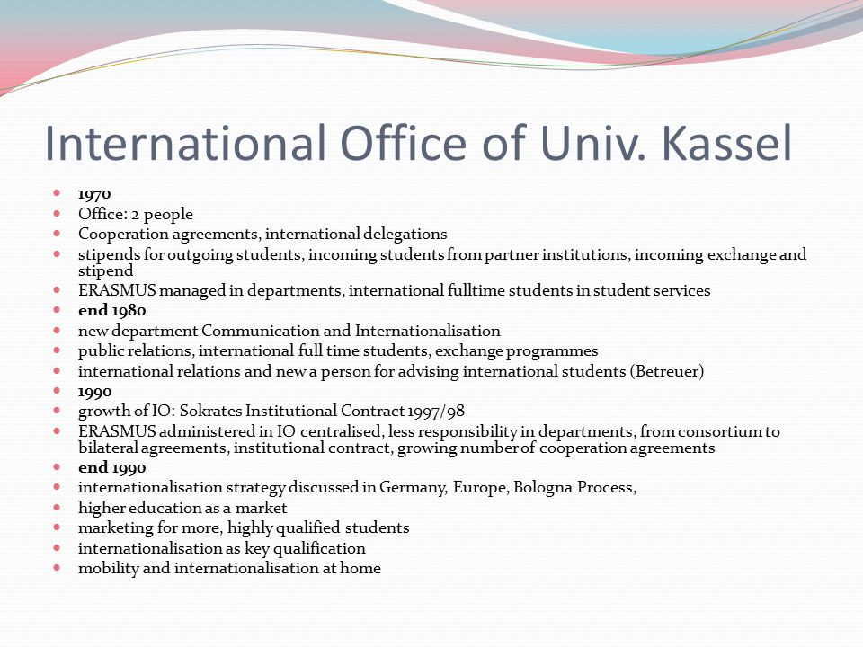 International Office of Univ.
