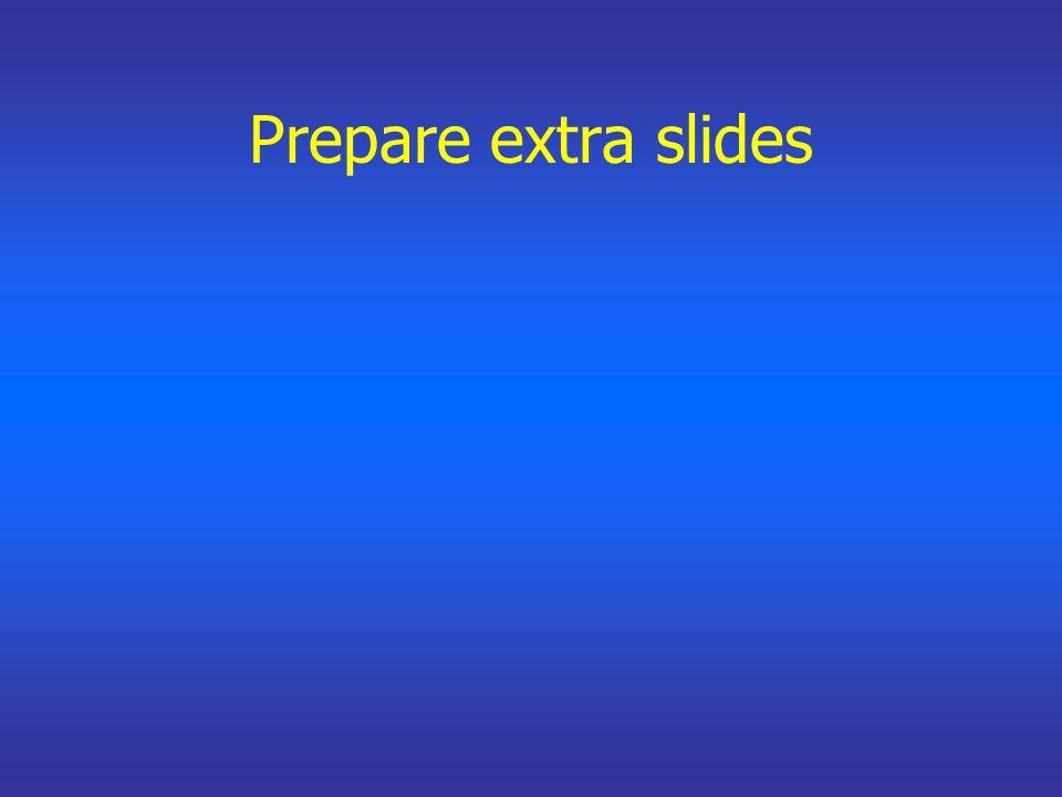 Prepare extra slides