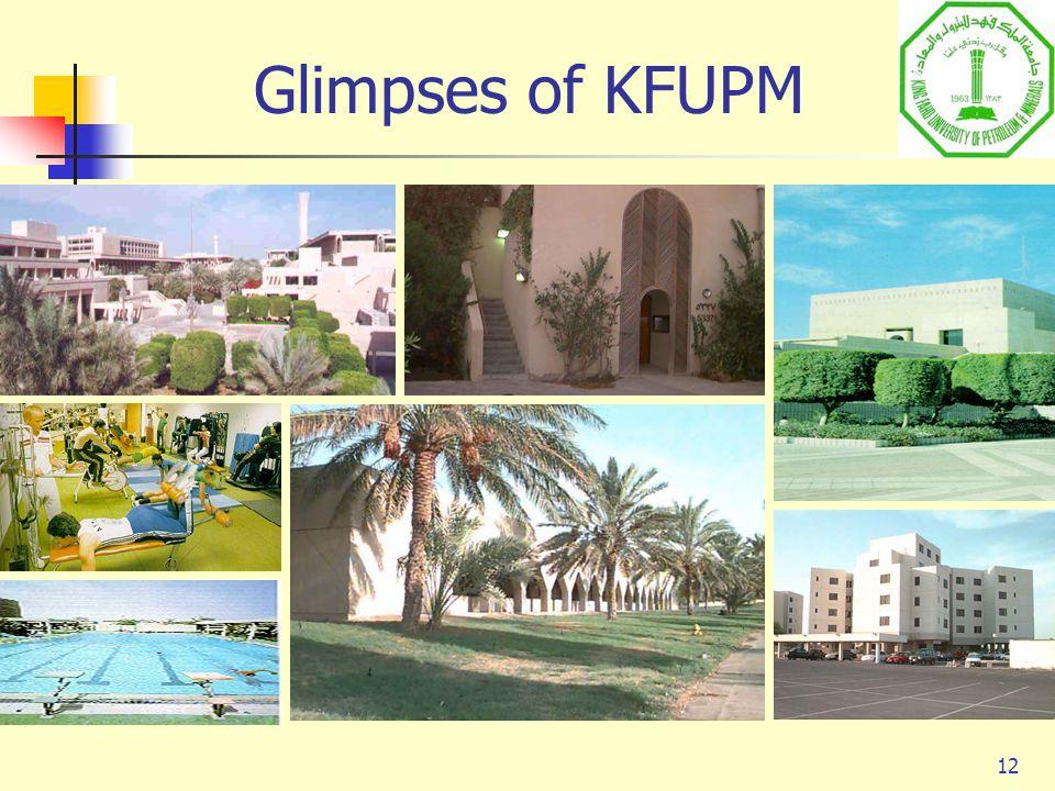 12 Glimpses of KFUPM