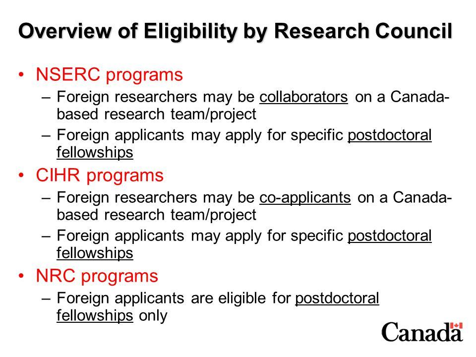 Canadian Institutes of Health Research www.cihr.ca