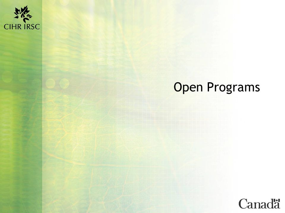 9 Funding Opportunities for Trainees Canada Graduate Scholarships (CGS) Master's Awards This program funds… Master's students at Canadian universities Stipend per annum: $17,500 Term: One year Application Deadline: All nominations and direct applications are due at CIHR for February 1 st FYI… Application quotas are provided to each AUCC member university Applications are forwarded to CIHR by the nominating university Direct applications accepted only from students who are not yet registered at a Canadian university in the Fall semester prior to the CIHR deadline