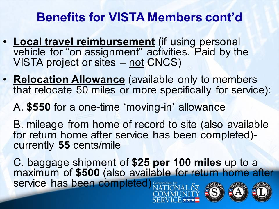19 Local travel reimbursement (if using personal vehicle for on assignment activities.