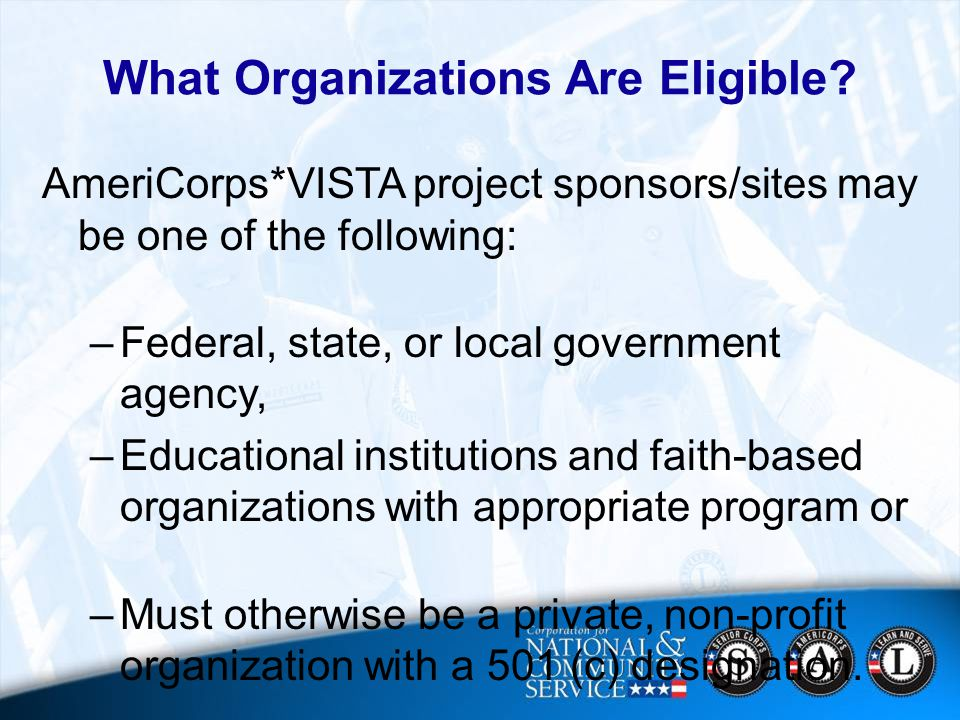 21 What Organizations Are Eligible.