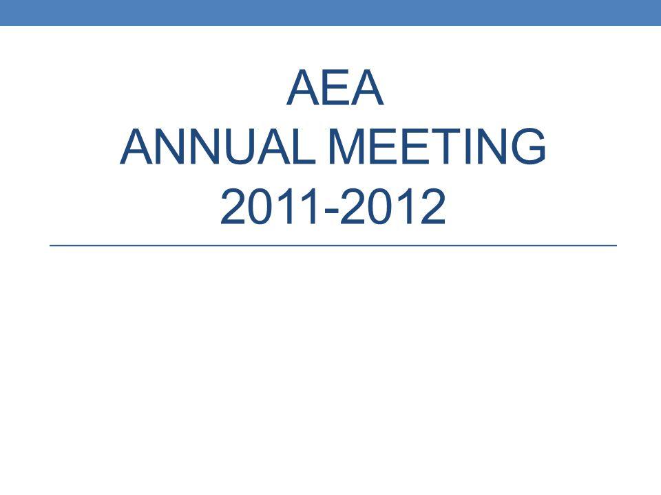 AEA ANNUAL MEETING 2011-2012