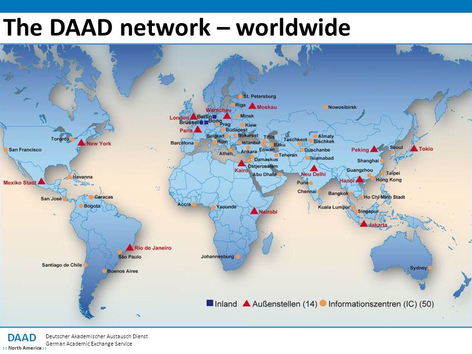 The DAAD network – worldwide DAAD : : North America : : Deutscher Akademischer Austausch Dienst German Academic Exchange Service