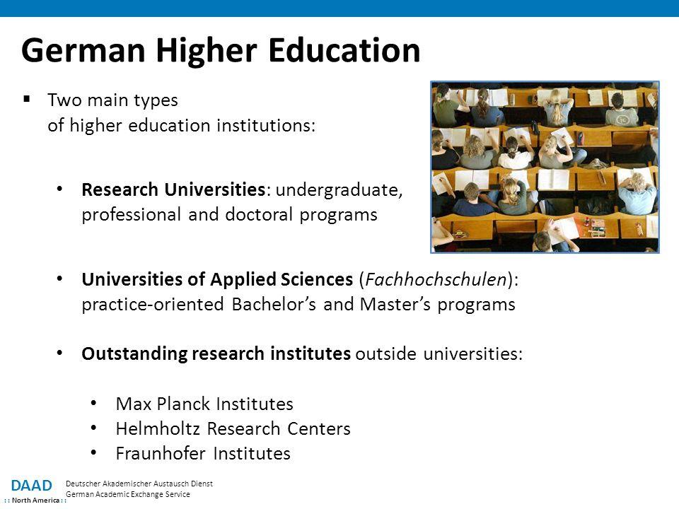 German Higher Education DAAD : : North America : : Deutscher Akademischer Austausch Dienst German Academic Exchange Service