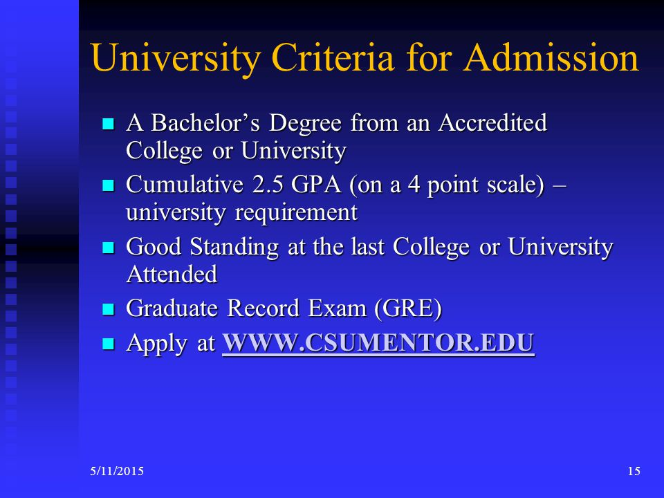 Application Process & Criteria for MSW Program Admissions 145/11/2015