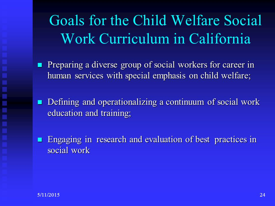 CalSWEC Mission Statement The California Social Work Education Center (CalSWEC) is a partnership between schools of social work, public human services agencies, and other related professional organizations that facilitate: The California Social Work Education Center (CalSWEC) is a partnership between schools of social work, public human services agencies, and other related professional organizations that facilitate:  the integration of social work education and practice,  effective culturally competent service delivery and  leadership to the people of California 235/11/2015
