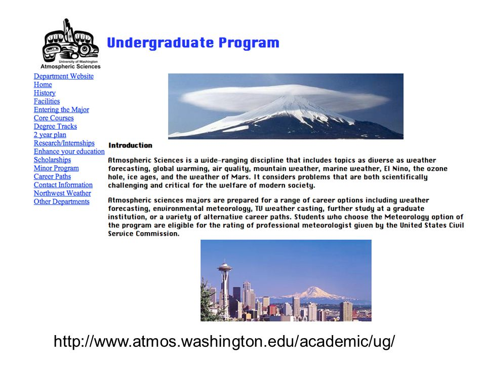 http://www.atmos.washington.edu/academic/ug/