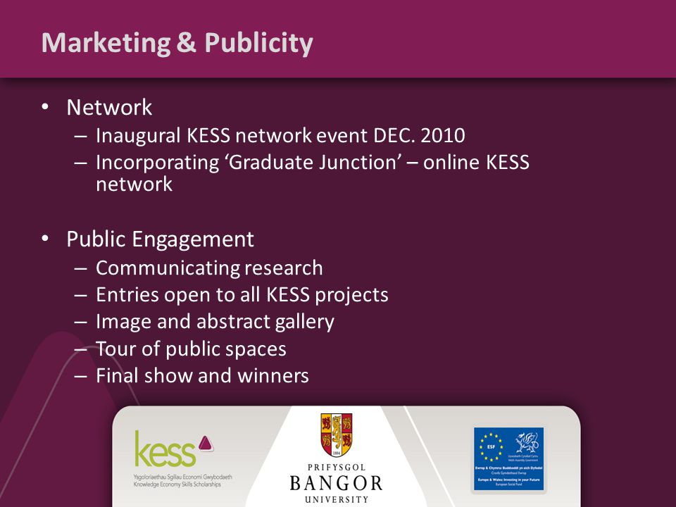 Marketing & Publicity Network – Inaugural KESS network event DEC.