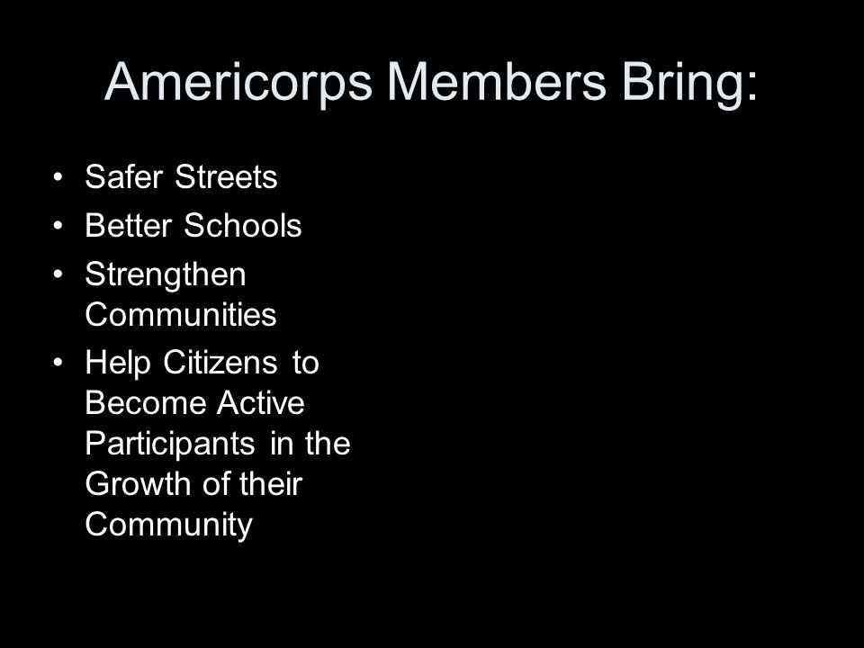 Who Serves in Americorps.