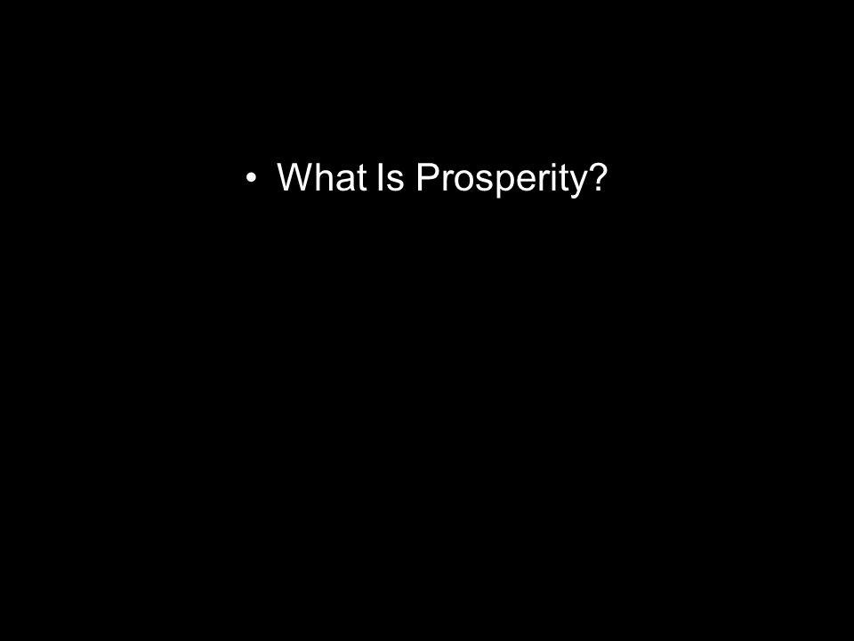 What Is Prosperity?