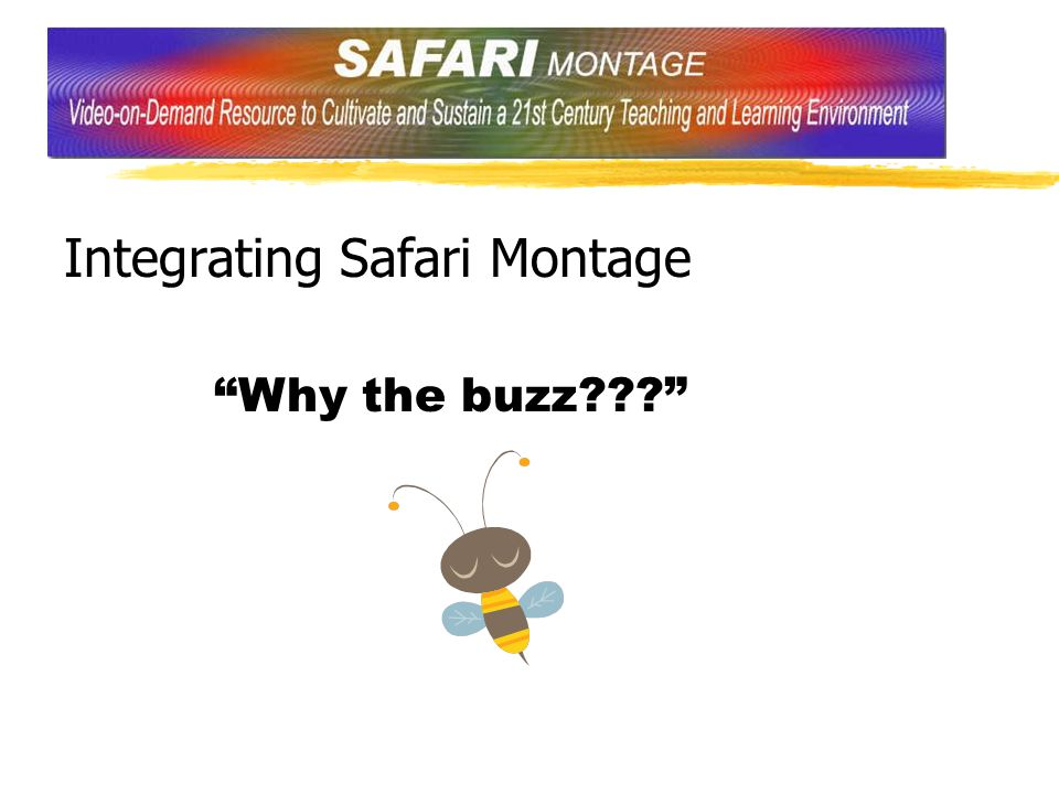Integrating Safari Montage Why the buzz