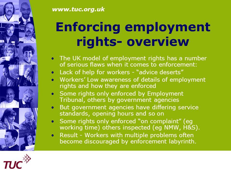 www.tuc.org.uk Minimum Wage Enforcement A better regime – Fair arrears Higher fines New civil penalties Greater powers for inspectors