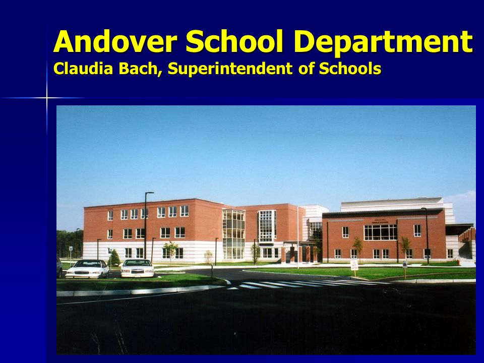 Andover School Department The Mission of the Andover Public Schools, in partnership with the community, is to provide students with the knowledge, skills and qualities required to be successful in a diverse society. Adopted October, 1997