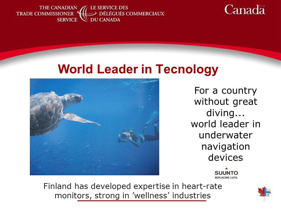 World Leader in Tecnology For a country without great diving...