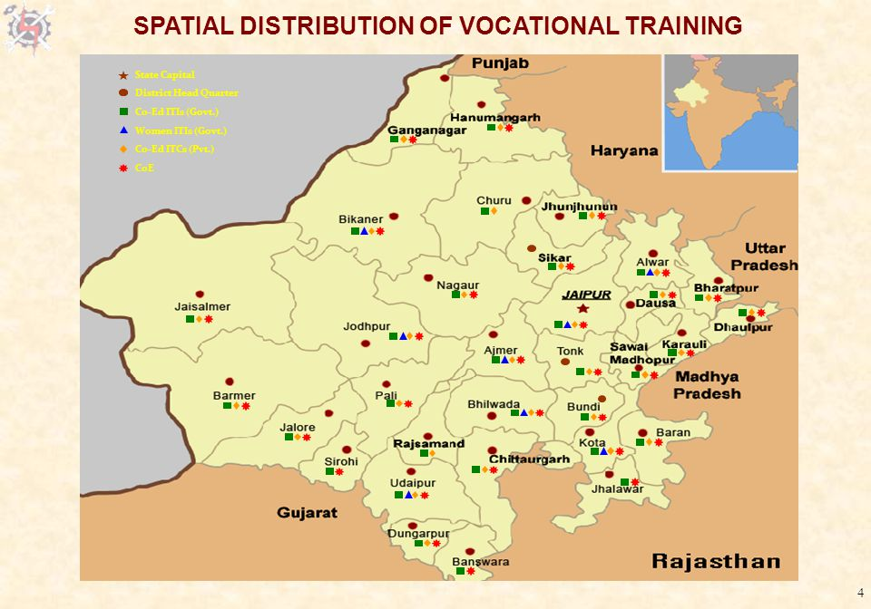 4 SPATIAL DISTRIBUTION OF VOCATIONAL TRAINING