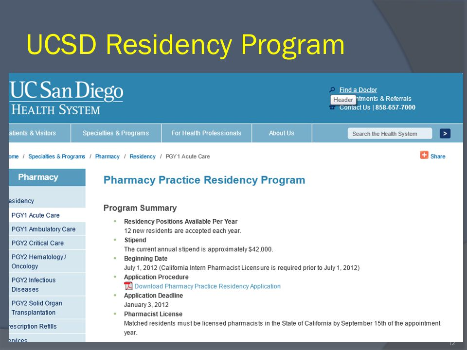 UCSD Residency Program 12