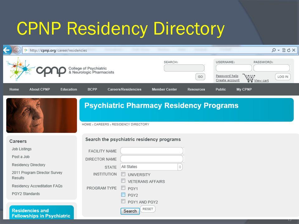 CPNP Residency Directory 13
