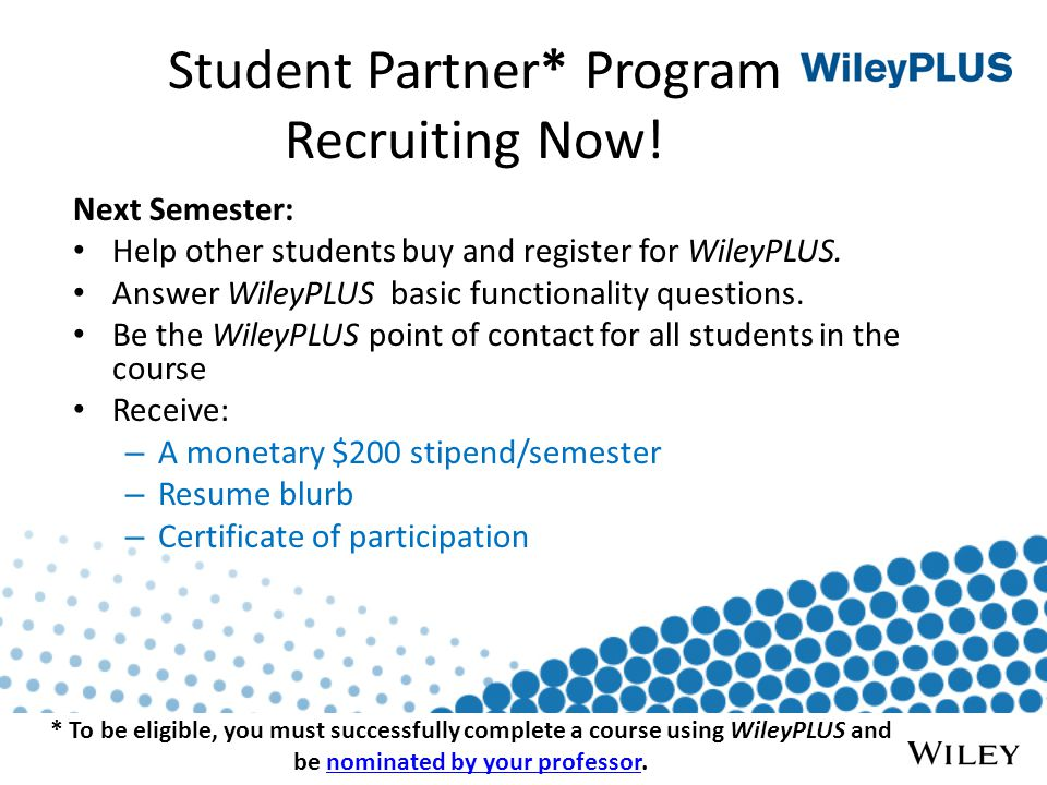 Student Partner* Program Recruiting Now.
