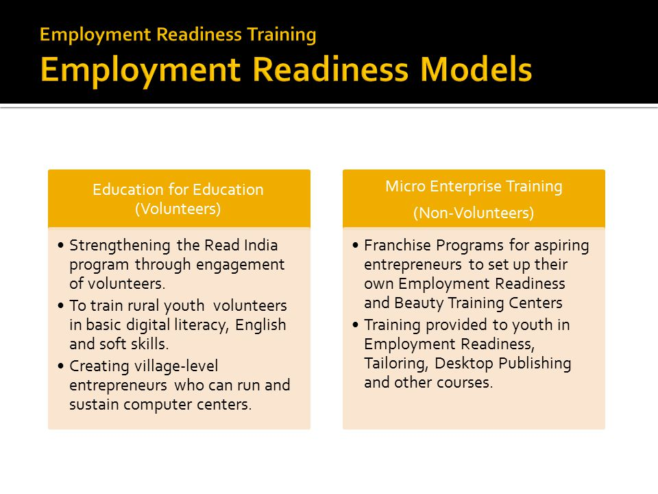 Education for Education (Volunteers) Strengthening the Read India program through engagement of volunteers.