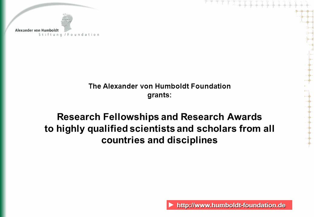 http://www.humboldt-foundation.de http://www.humboldt-foundation.de 12 Humboldt Research Fellowships and Awards by discipline for U.S.
