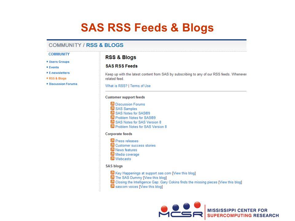 SAS RSS Feeds & Blogs