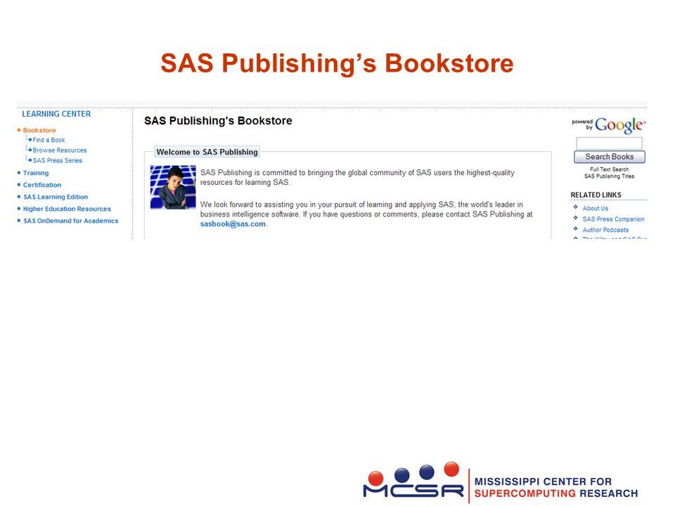 SAS Publishing's Bookstore