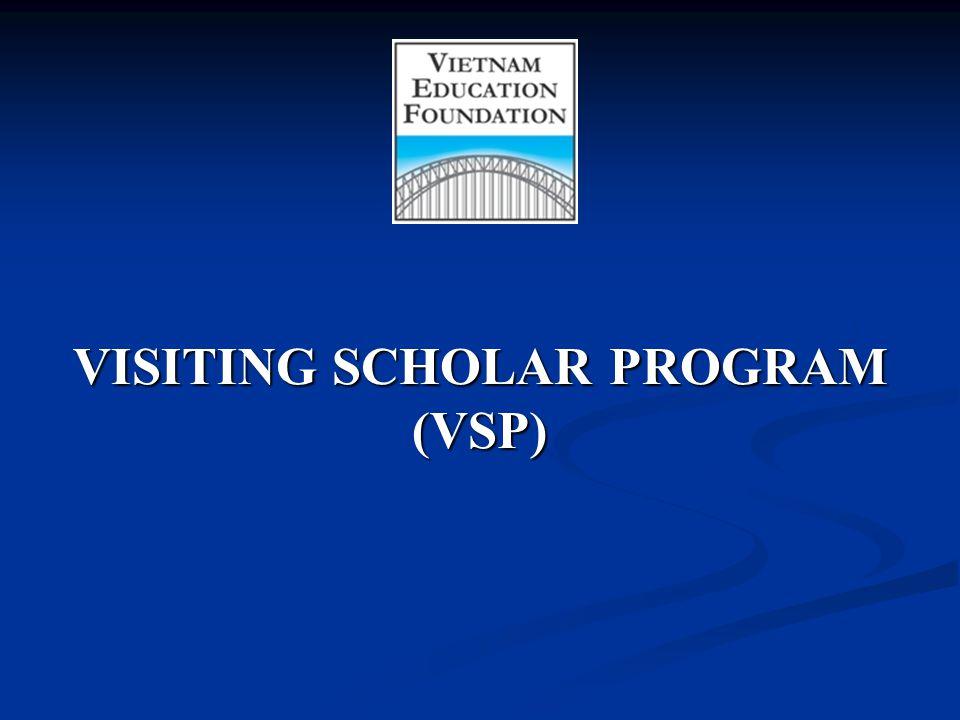 VISITING SCHOLAR PROGRAM (VSP)