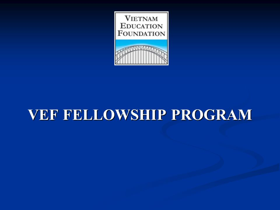 VEF FELLOWSHIP PROGRAM