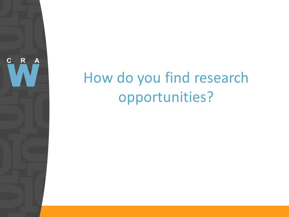 How do you find research opportunities