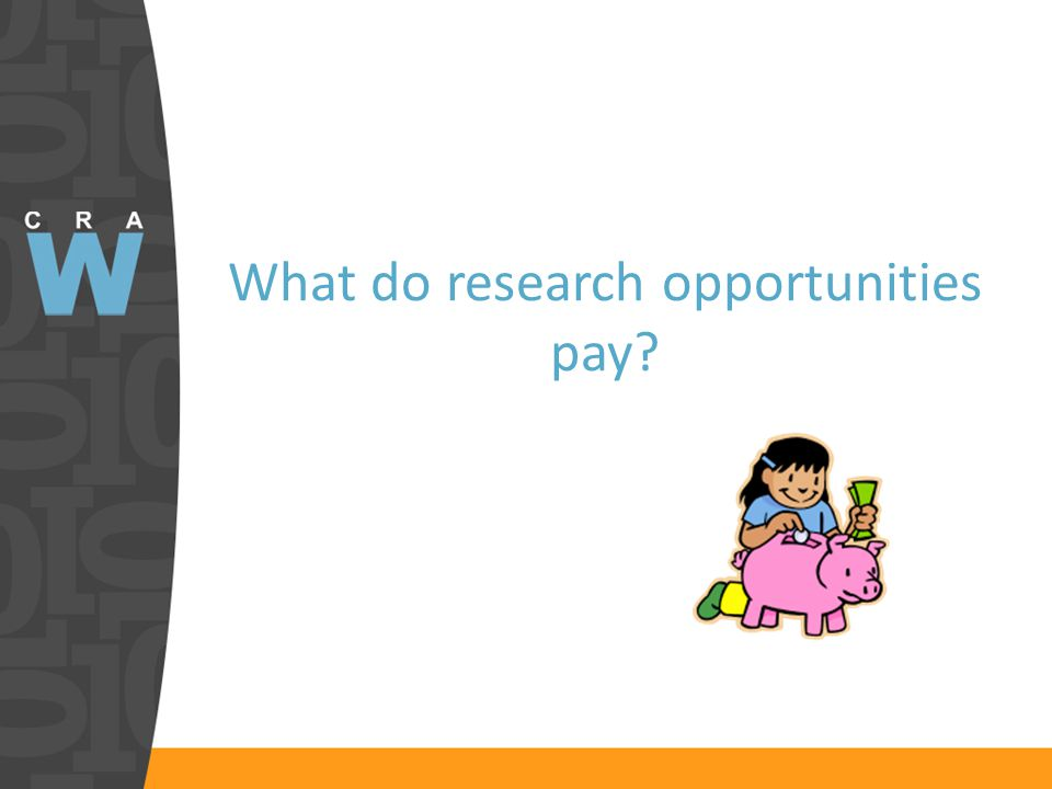 What do research opportunities pay