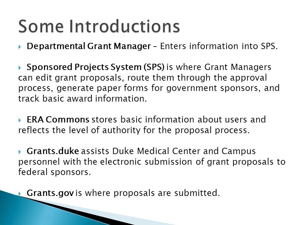 merge grants.duke info SPS info grants.gov
